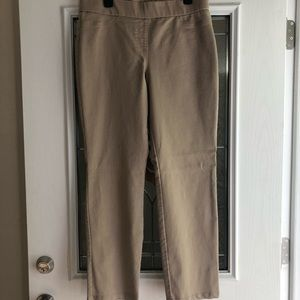 Kim Rogers Size 12 Tan Elastic Waist Pants